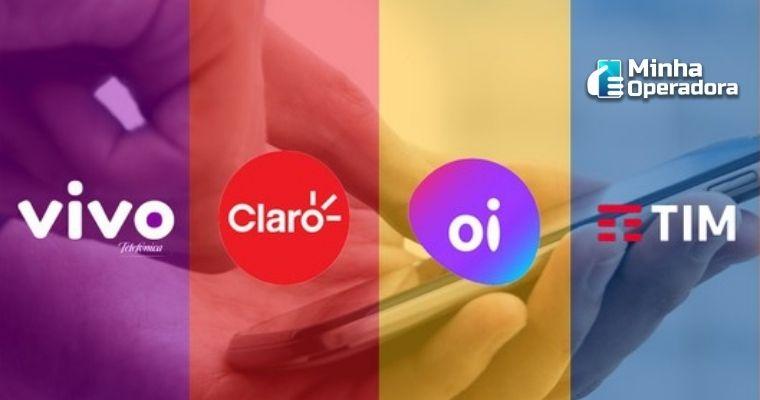 Logotipos das quatro operadoras.